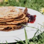 Vegane und glutenfreie Pfannkuchen